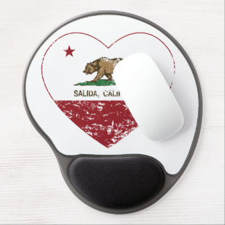 california flag salida heart distressed gel mouse pad