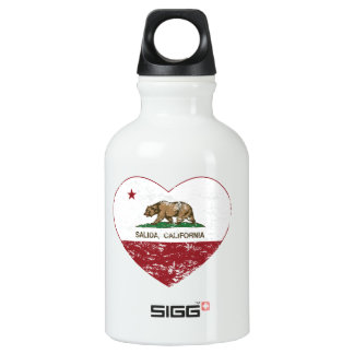 california flag salida heart distressed SIGG traveler 0.3L water bottle