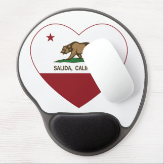 california flag salida heart gel mouse pad