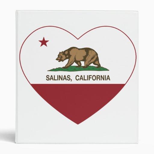 california flag salinas heart binder