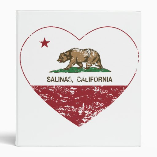 california flag salinas heart distressed 3 ring binder