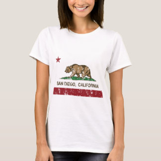california flag san diego distressed T-Shirt