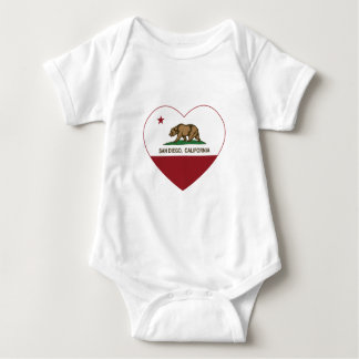 california flag san diego heart baby bodysuit