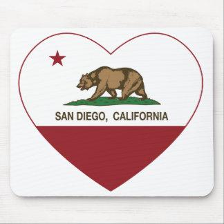 california flag san diego heart mouse pad