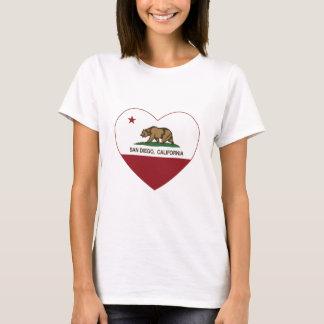 california flag san diego heart T-Shirt