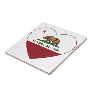 california flag san diego heart ceramic tiles