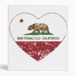 california flag san francisco heart distressed vinyl binder