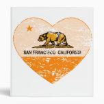 california flag san francisco heart distressed binders