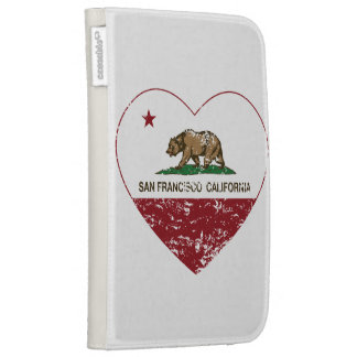 california flag san francisco heart distressed kindle 3 case