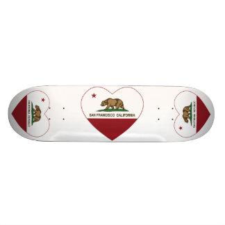 california flag san francisco heart skateboard deck