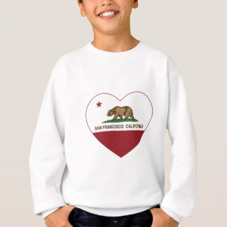 california flag san francisco heart sweatshirt