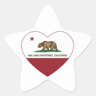 california flag san juan capistrano heart star sticker