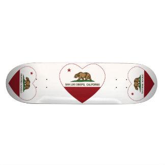 california flag san luis obispo heart skateboard deck