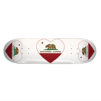 california flag santa barbara heart skateboard deck