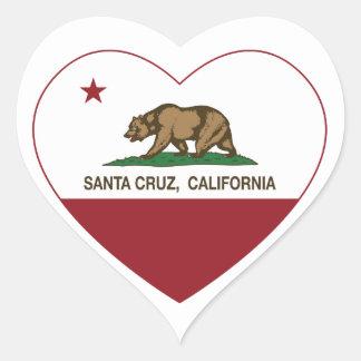 california flag santa cruz heart heart sticker