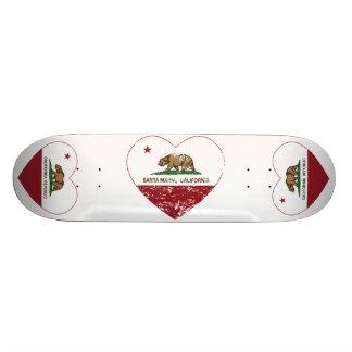 california flag santa maria heart distressed skate deck