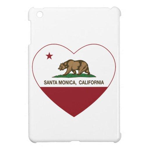 california flag santa monica heart iPad mini covers