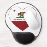 california flag santa rosa heart gel mouse pad