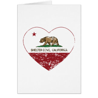 california flag shelter cove heart distressed greeting card