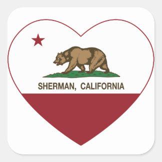 california flag sherman heart stickers