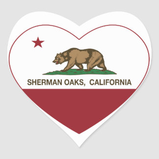 california flag sherman oaks heart heart sticker
