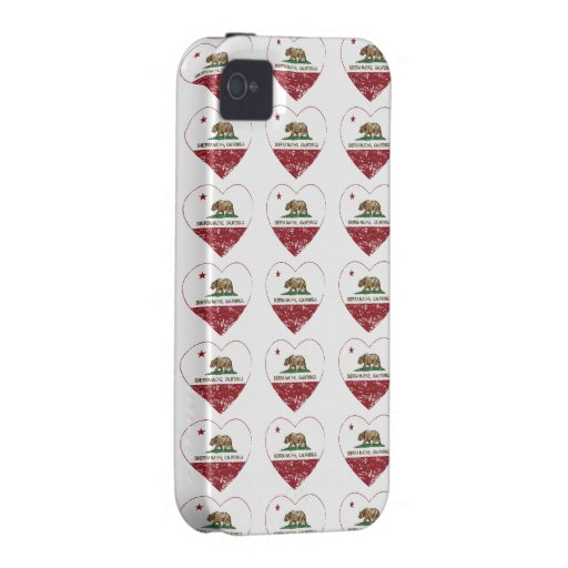 california flag sierra madre heart distressed iPhone 4 covers