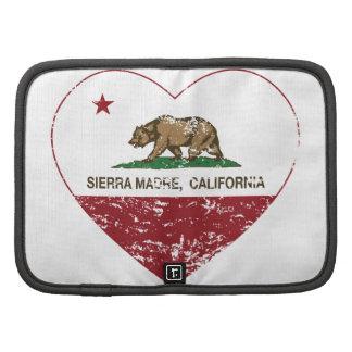 california flag sierra madre heart distressed folio planner
