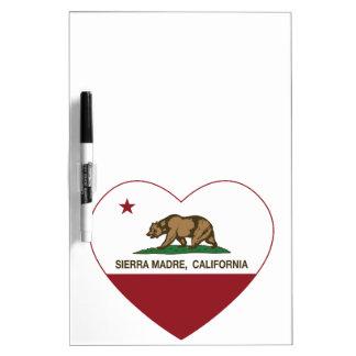 california flag sierra madre heart Dry-Erase whiteboard