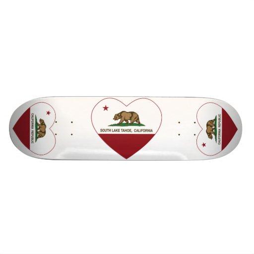 california flag south lake tahoe heart skateboard