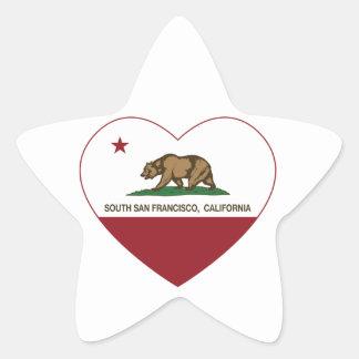 california flag south san francisco heart star sticker