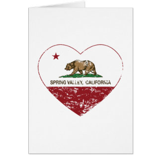 california flag spring valley heart distressed card