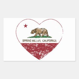 california flag spring valley heart distressed rectangular sticker