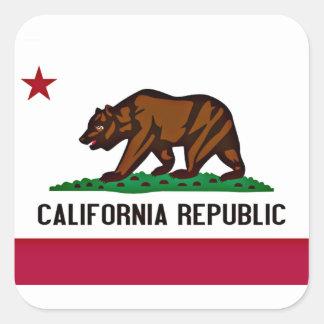 California Flag Square Sticker