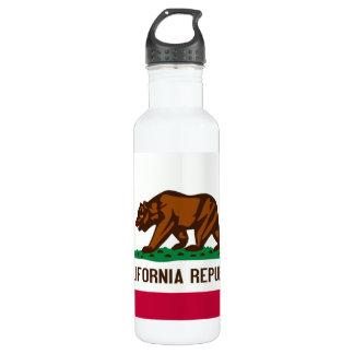 California Flag Stainless Steel Water Bottle