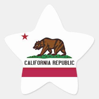 California Flag Star Sticker