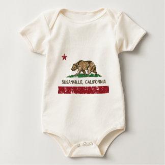 california flag susanville distressed baby creeper