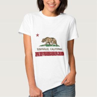 california flag susanville distressed tshirt