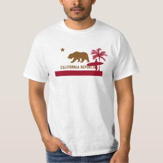 California Flag T-Shirt - Surfer on Beach