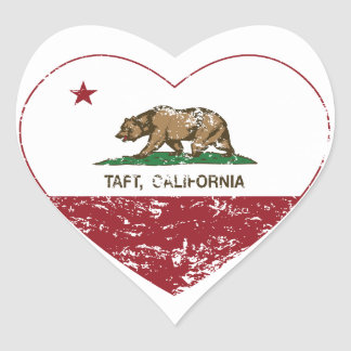 california flag taft heart distressed heart sticker