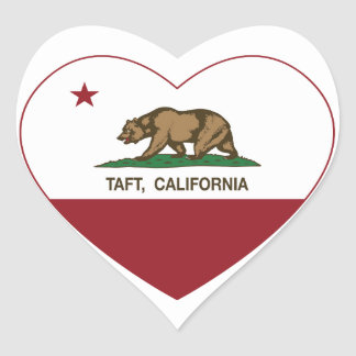 california flag taft heart heart sticker