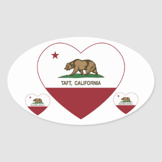 california flag taft heart oval sticker
