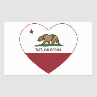 california flag taft heart rectangular sticker