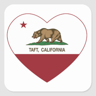 california flag taft heart square sticker