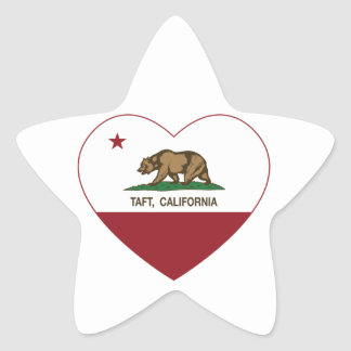 california flag taft heart star sticker