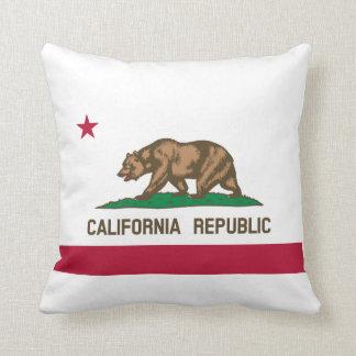 California Flag Throw Pillows