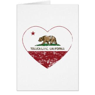 california flag toluca lake heart distressed card