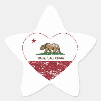 california flag tracy heart distressed sticker