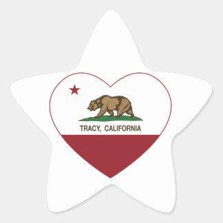 california flag tracy heart star sticker