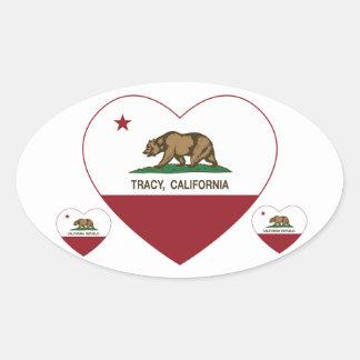 california flag tracy heart stickers