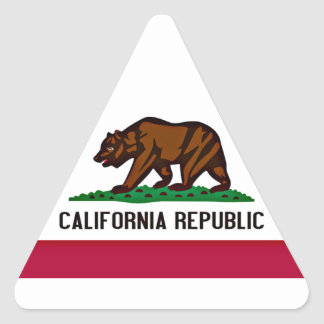 California Flag Triangle Sticker